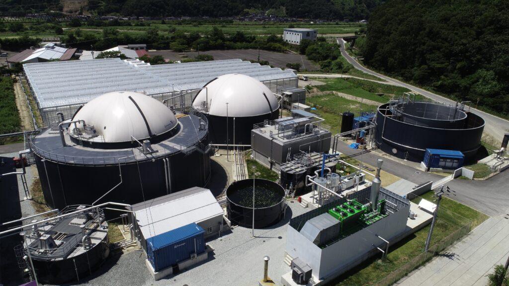 消化液が生成される「トーヨーバイオメタンス発電所」